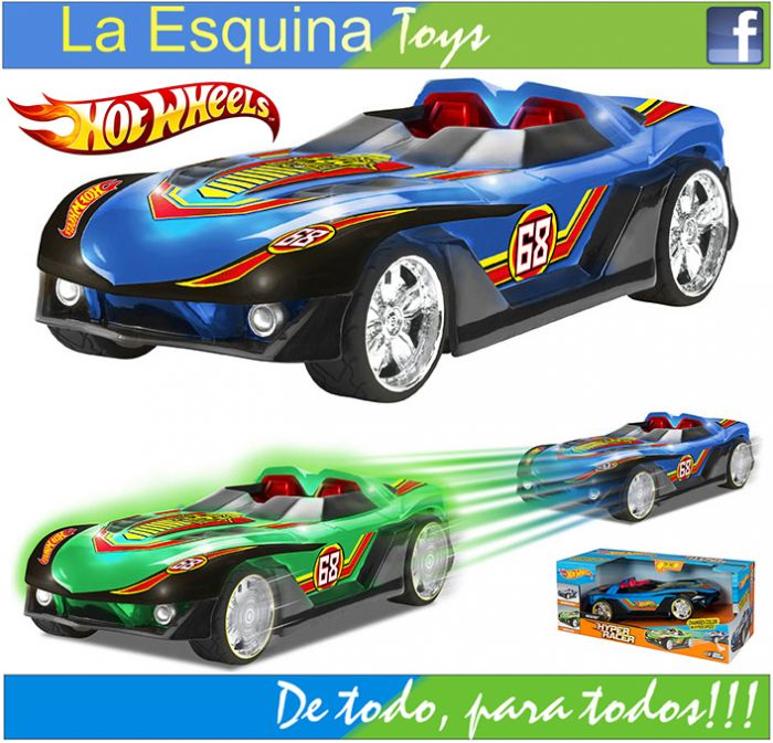 Carrito Hot Wheels Hyper Racer luminoso.
